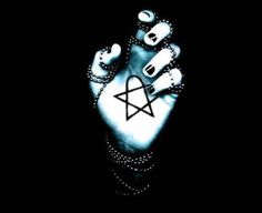 H.I.M. Heartagram I want this as a palm tat now