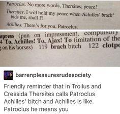 Patrochilles << why I love Greek mythology