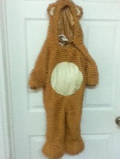 Toddler  Chenille Teddy Bear Cute Infant Toddler  Costume 12-24 Months