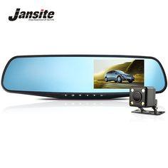 ราคา #### ราคา Jansite Full HD 1080P Car Dvr Camera Night Vision 4.3 Inch Rearview Mirror Digital Video Recorder Dual Lens Registrar Camcorder สงวนน