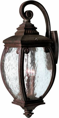 """0-015668>28""""""""h Forum 3-Light Large Outdoor Wall Lantern French Bronze"""