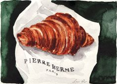A Croissant at Pierre Herme Giclee Print of by #LauraRowStudio
