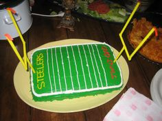 A family tradition: making a cake for Super Bowl every year. This was my husbands 1st attempt (usually my mother &/or I make it) from a few years back.