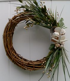 Beachy christmas wreath