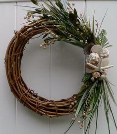 Beachy christmas wreath