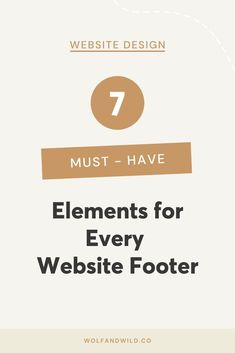 An underestimated part of every website is the footer! Since the footer is at the bottom of a website, it can often be overlooked when it comes to website strategy. But it appears on every page, which means it should be a high priority for optimization. Take a look at my tips for designing your website footer! #websiteoptimization #websitedesign #squarespacewebdesign Footer Design, Web Design Tips, Graphic Design Tips, Web Design Tutorials, Web Design Inspiration, Website Design Layout, Blog Layout, Business Design, Creative Business