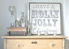 Holly Jolly Christmas by BetweenYouAndMeSigns on Etsy