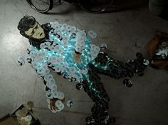 Rock Icons Reborn Via CD Mosaics