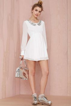 Nasty Gal Earth Angel Embroidered Dress | Shop Dresses at Nasty Gal