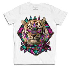 """T-Shirt """"Geometric Tiger II"""""""