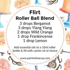 6 easy ylang ylang roller bottle blends that are perfect for Valentine's Day, gift giving and make great DIY perfumes! Essential Oil Perfume, Essential Oil Uses, Doterra Essential Oils, Perfume Diesel, Homemade Perfume, Diy Perfume Recipes, Homemade Deodorant, Diffuser, Essential Oil Blends