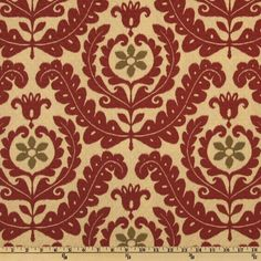 Waverly Sun N Shade Quitled Meridian Medallion Henna - Discount Designer Fabric - Fabric.com