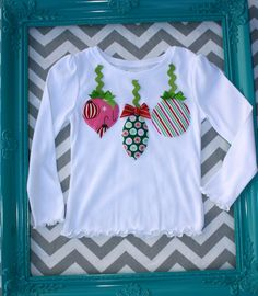 Christmas Ornament Tshirt 3T by lilybloom on Etsy