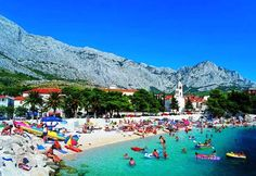One of the beautiful beaches of Split Croatia on the Adriatic Sea