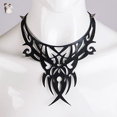 Leather bib necklace Cut out - Wedding nacklaces (*Amazon Partner-Link)