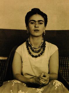 Frida Kahlo in Manuel Alverez Bravo's Studio