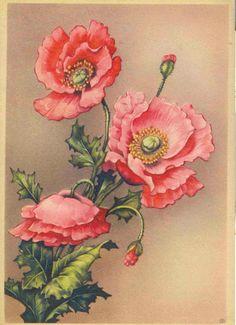 carte postale ancienne fleurs - Google'da Ara