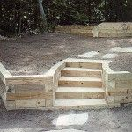 landscape timber retaining wall pictures - All About Garden Retaining Wall Steps, Backyard Retaining Walls, Retaining Wall Design, Sloped Backyard, Sloped Garden, Retaining Wall Drainage, Backyard Patio, Hillside Landscaping, Outdoor Landscaping