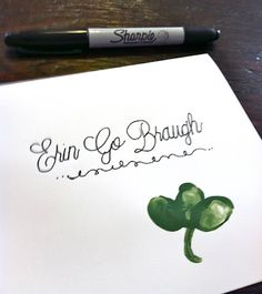 St. Patrick's Day Card made by a youngster...great idea for your children