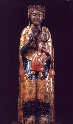 black madonna statue | The Black Madonna without Vestments and Crown in Pescasseroli, Italy