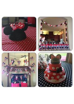 Minnie Mouse Birthday Decorations for my 2 year olds birthday party.