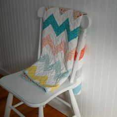 Custom Order Chevron Baby Quilt by TheEarlyGirl on Etsy