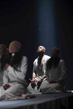 Kanye West in Maison Martin Margiela for Yeezus Tour