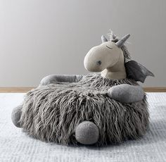 RH Baby & Child's Wooly Plush Dragon Chair:With its playful embroidered accents and lots of fun, different textures, the softest seat in the house is also the friendliest. Home Decor Furniture, Dollhouse Furniture, Kids Furniture, Storage Baskets With Lids, Dragon Nursery, Dragon Kid, Unicorn Kids, Baby Room Design, Kids Seating