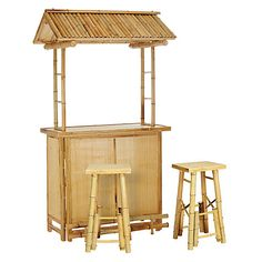 Buy Bamboo Tiki Bar with 2 Stools from our Barware & Drinks Accessories range at John Lewis & Partners. Bamboo Bar, Buy Bamboo, Mobile Food Cart, Gazebo, Pergola, Deck Fire Pit, Summer Parties, House Front, Natural Materials