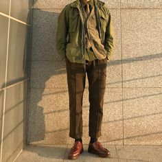 "Reposting @kodori94: ... ""대학생활의 마지막을 캠스콘으로 장식했습니다"" Menswear mode style outfit homme ootd"