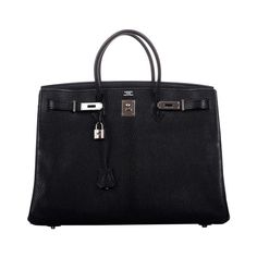 MUSTHAVE SUPER RARE HERMES BIRKIN BAG 40cm BLACK CHEVRE GOAT SKIN PALLADIUM | 1stdibs.com