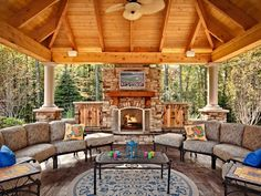 Outdoor Living Rooms, Outside Living, Outdoor Spaces, Outdoor Decor, Outdoor Kitchens, Living Spaces, Outdoor Patios, Rustic Outdoor, Indoor Outdoor