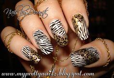 animal print stamp mani pedi - Google Search