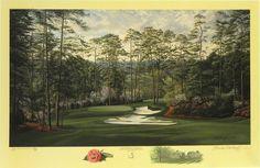 The 10th Hole, Camellia, Augusta National Golf Club, Augusta, Georgia by Linda Hartough at Smith Galleries, via Flickr.