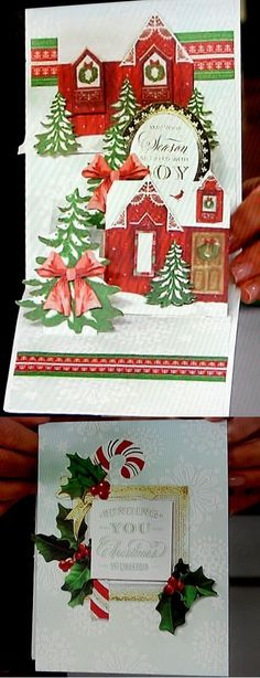 Anna Griffin Christmas pop up card kit from HSN
