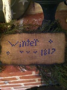 Primitive Sampler ~ Winter Stitchery~~~~ 1817~ Free Shipping