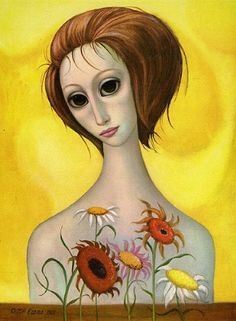 Who is the mother of big-eye art? Margaret Keane, of course! Her poignant paintings, mass produced as prints in the and captured the hearts of the masses and are popular once again. Big Eyes Margaret Keane, Keane Big Eyes, Margret Keane, Keane Artist, Art Pictures, Art Images, Big Eyes Paintings, Portraits, Art Abstrait