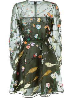 Comprar Valentino vestido con bordado floral en Stefania Mode from the world's best independent boutiques at farfetch.com. Descubre 400 boutiques en 1 sola dirección.