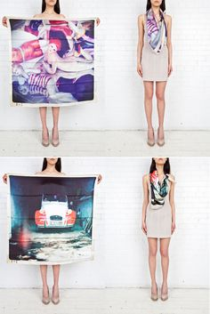 From Designlovefest.  Want the car scarf.  It'd take me more places than an actual car