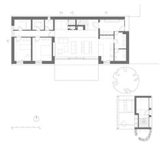 Image 22 of 27 from gallery of Family House / Atelier Plan 1 Family House Plans, House Floor Plans, Home And Family, Heart Place, Cabins And Cottages, Architecture Plan, K2, How To Plan, Gallery