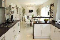 bellway kitchens - Google Search Kitchen Upgrades, Kitchen Ideas, Open Plan Living, Open Kitchen, Kitchen Design, Sweet Home, Kitchen Cabinets, New Homes, Extension Ideas