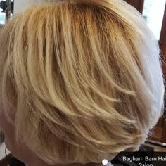 We did this cut a while back on a client who was after a smart cut for a photo she was having done for a newspaper article.  We were so proud to see our work on her. I really should have saved the paper. Oh well, maybe next time 🤔