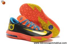 Sale Cheap Black Orange Yellow Nike Zoom KD 6 For Sale