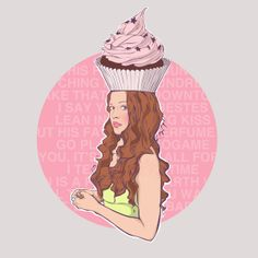 Cupcake Illustration by Anna Diricheva