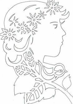 Csodálatos tavaszi vytynanka. Bird Stencil, Paper Cutting Templates, Diy And Crafts, Paper Crafts, Paper Cut Design, Wood Carving Patterns, Cricut Craft Room, School Decorations, Scroll Saw Patterns