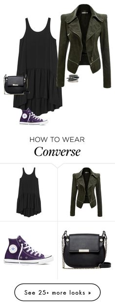 """Untitled #878"" by susnset-rider99 on Polyvore featuring Monki, Converse, French Connection and H&M"