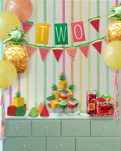 Tutti Frutti Party Theme // Party Kit // by PaperConfete on Etsy