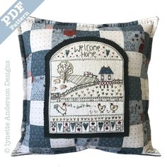 Welcome Home Pillow - downloadable pattern