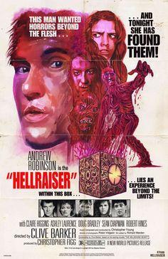 Retro Hellraiser poster by Stephen Romano Horror Movie Posters, Horror Films, Horror Art, Child's Play Movie, Film Movie, Movie Titles, Fan Poster, Movie Poster Art, Sci Fi Movies