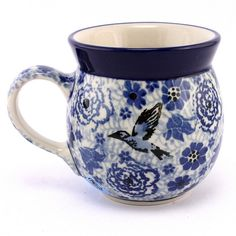 Love this stylish blue bubble mug! #PolishPottery from http://slavicapottery.com